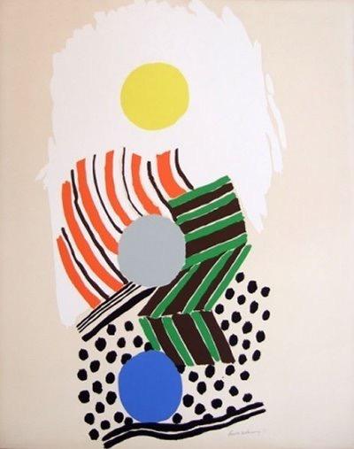 La Plage. Litografía.1973
