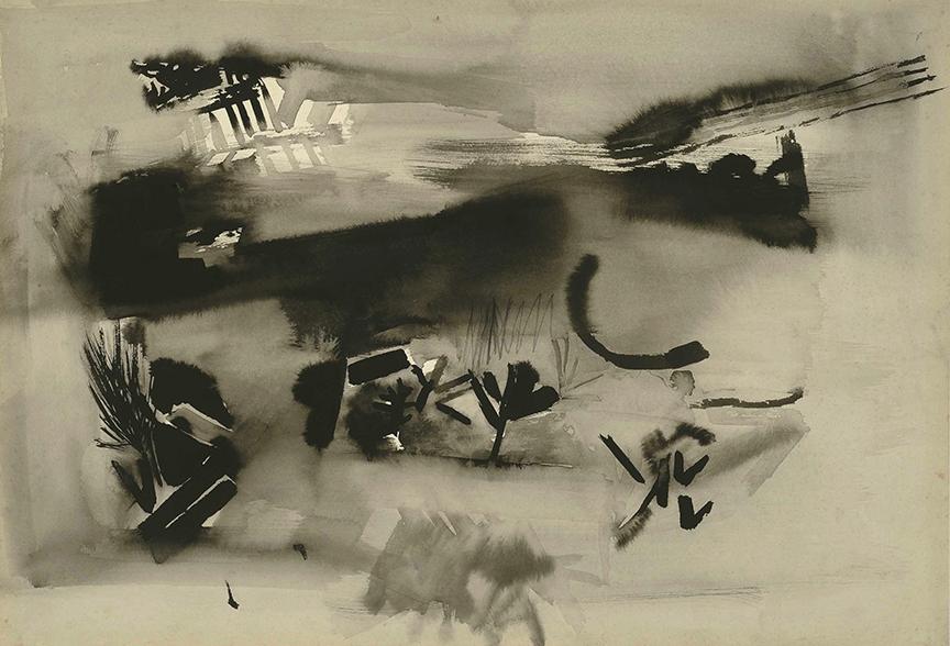 Sin título. Tinta y acuarela sobre papel, 1960.