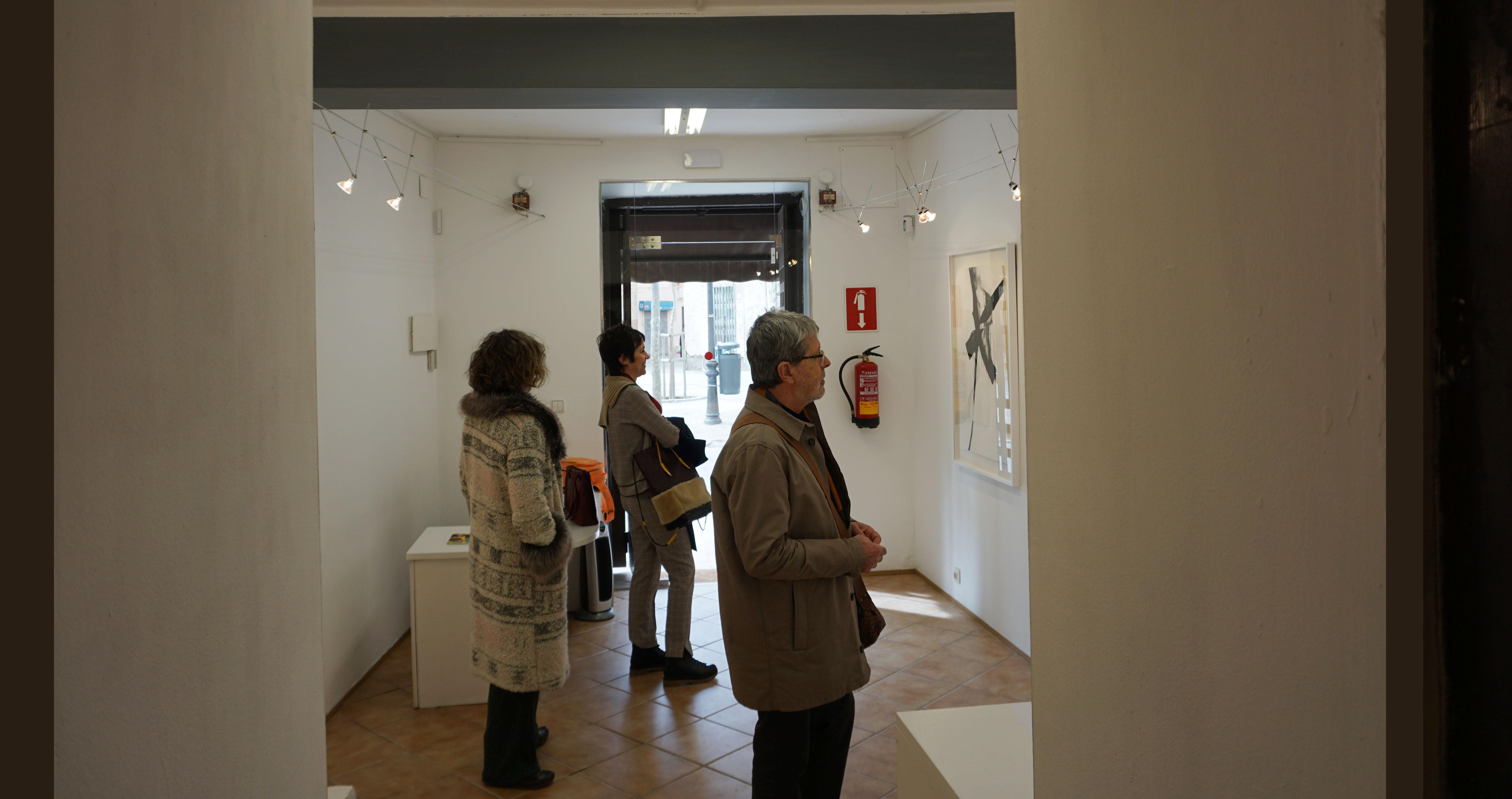 Galeria La Carbonería, Obra en papel de Asun Valet, pintora, pintora abstracta española,