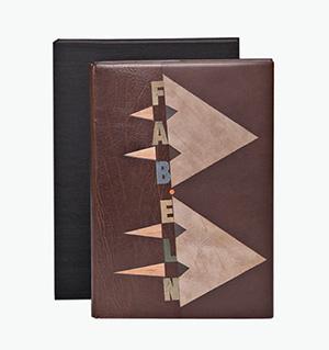 Encuadernación de Eduardo Giménez. Fabeln/Fables, La Fontaine, Ilustraciones de B. Coudrain (2013)