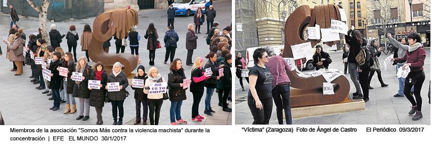 Escultura pública Victima Zaragoza