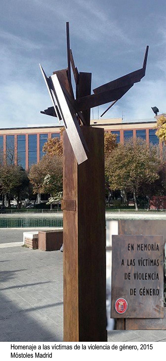 Homenaje a las víctimas de género, 2015, Móstoles Madrid
