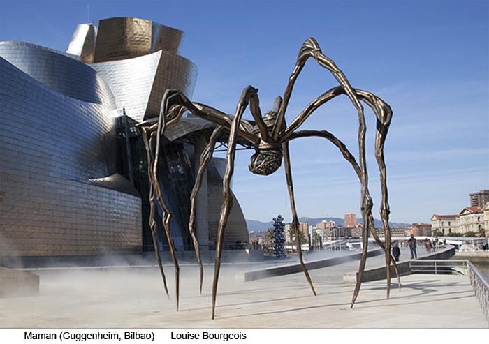 Escultura pública Maman, de Louise-Bourgeois,Museo Guggenheim Bilbao
