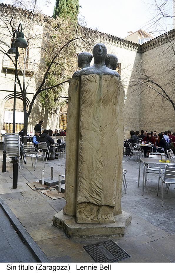 Sin título Zaragoza Lennie Bell, Escultura pública.