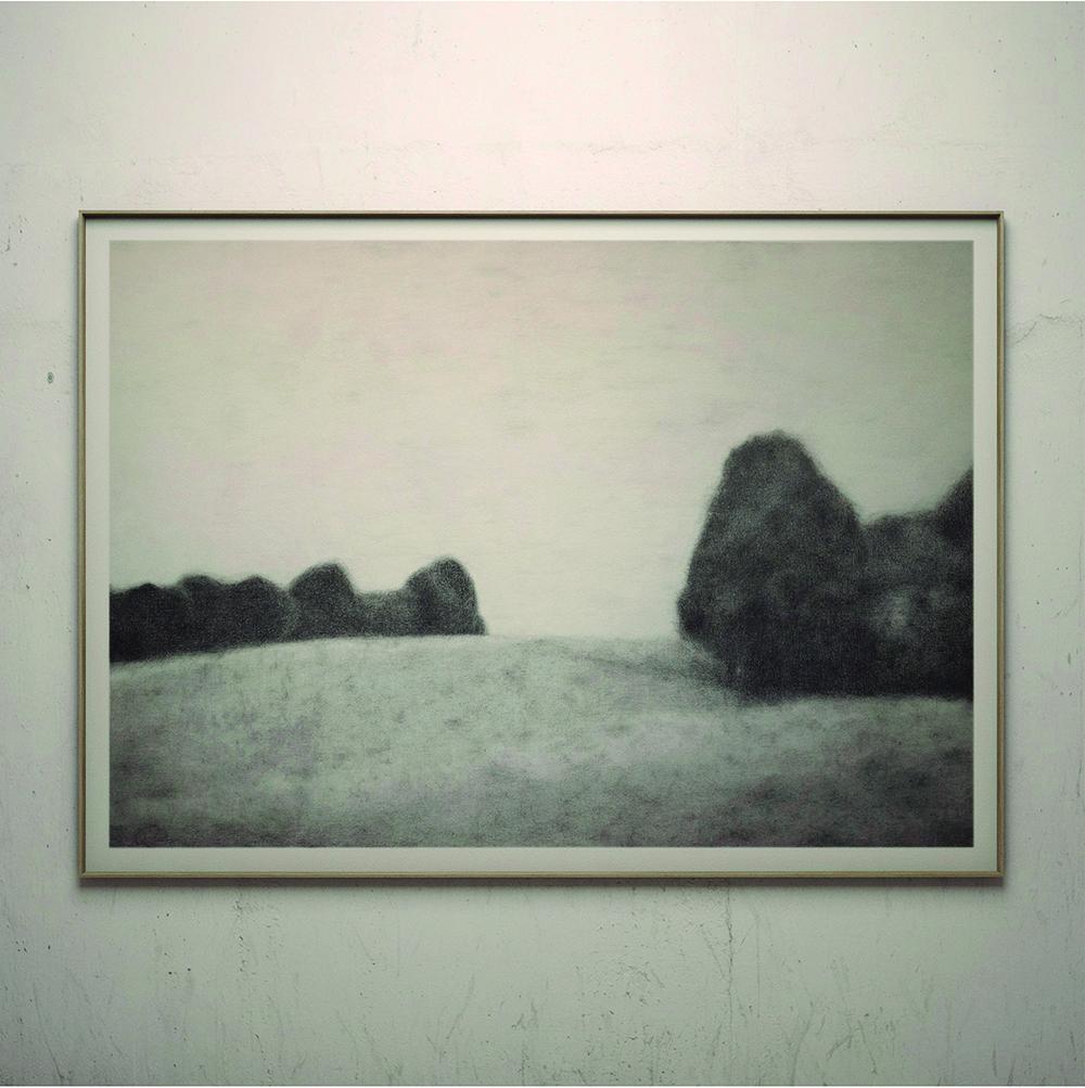 Paisaje, Obra de Aurelio San Pedro, 2019. artista visual y pintor catalán, español, europeo
